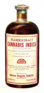Cannabis indica tincture from 1937